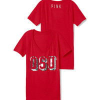 Ohio State University Bling V-neck Raglan Tee