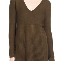 ASTR V-Neck Side Slit Tunic Sweater | Nordstrom
