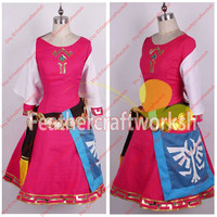 The Legend of zelda Princess Cosplay Dress Zelda Cosplay Costume Custom made in any size