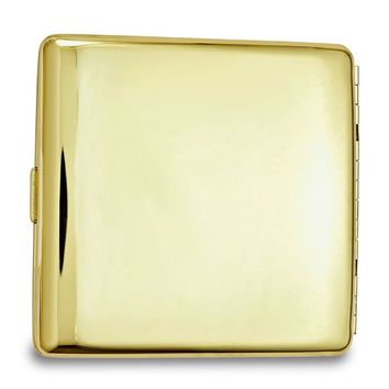 Gold-tone Polished (holds Pack Kings) Cigarette/card Case