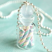 marshmallows in a jar necklace