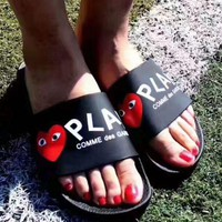 PLAY COMME des GARCONS: Comfortable Loose Slippers 3 color