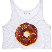 Chocolate Donuts Crop Tank Top