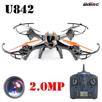 UDI RC U842 6-Axis Gyro 2.4Ghz Falcon RC Quadcopter with HD Camera-Black