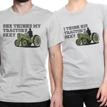Couple Shirts Funny, His & Hers Shirts, His Her Shirts, couples funny shirt, shirts for couples, Country couple shirt set, I think his tractors sexy, Farm couple