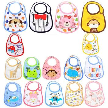 DreamShining Cotton Baby Bibs Cartoon Animal Infant Feeding Scarf Burp Cloth Newborn Babador Bandana Baby Stuff Accessories
