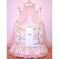 Cherub Dreams Round Crib II