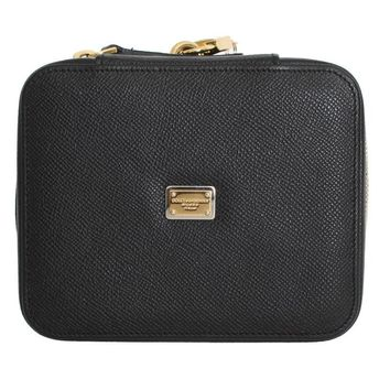 Black Leather Jewelry Accessory Case