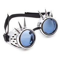 Chrome Spiked Goggles | Cyber Rave Burner Goggles at RaveReady