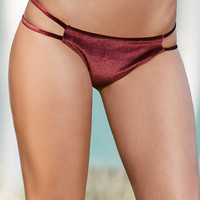 LA Hearts Velvet Strappy Side Skimpy Bikini Bottom at PacSun.com