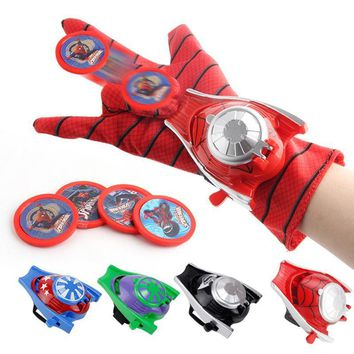 Deadpool Dead pool Taco Cosplay Marvel Avengers Super Heroes Gloves Laucher Spiderman Batman Ironman One Size Glove Gants Props Christmas Gift for Kid AT_70_6
