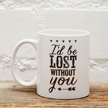 Tickled Teal Lost Without You Mug