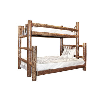 Montana Woodworks® Glacier Country Twin over Full Bunk Bed with Built-In Ladder