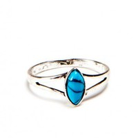 Brandy ♥ Melville |  Marquise Teal Stone Ring - Jewelry - Accessories