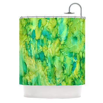 "Rosie Brown ""Going Green"" Emerald Shower Curtain"