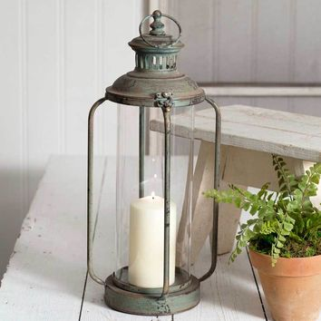 Primitive Rustic Country Style Tall Cork County Lantern Candle Holder Decorative