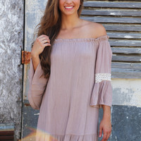 Live & Learn Dress {Taupe}