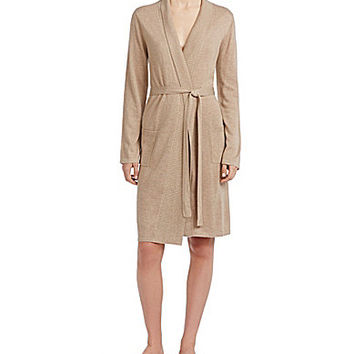 Cabernet Silk & Cashmere Robe - Taupe Heather