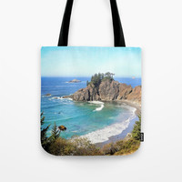 coastal overlook Tote Bag by sylviacookphotography