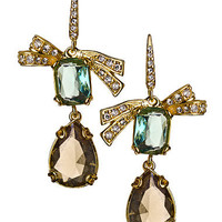 Max & Chloe - Carolee Double Drop Bow Rock On Earrings - Max and Chloe