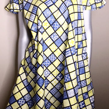 Ladies Ankara off shoulder dress