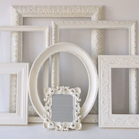 Picture Frames And Framed Mirrors Vintage Ornate by MollyMcShabby