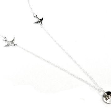 Diving Swallows Soar Flying Sterling Silver XL by SovereignSea