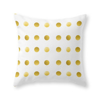 Society6 Gold Spots Throw Pillow