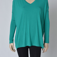 Long Sleeve N-Neck Piko for Cheap | Overstock Boutiques.
