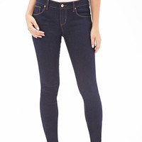 Low-Rise - Dark Wash Skinny Jeans