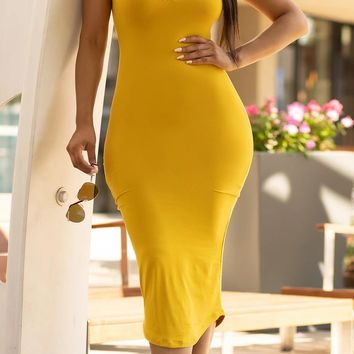 You're My Sunshine Dress Yellow/Mustard