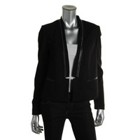 Rebecca Taylor Womens Textured Open Front Blazer