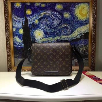 LV Louis Vuitton MONOGRAM LEATHER CROSS BODY BAG
