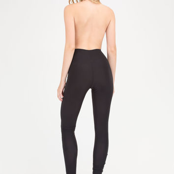 Night Cowl Fitted Halter Jumpsuit GoJane.com