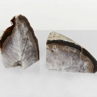 The Dreslyn Home Medium Agate Bookends