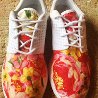 Custom Nike Floral Roshe Run Sneakers