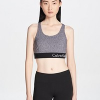 performance logo keyhole back sports bra | Calvin Klein