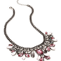 Clustered Faux Stone Necklace