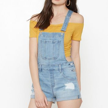 PacSun Condense Blue Shortalls at PacSun.com