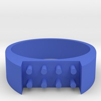 8-bit ring (US6/⌀16.5mm) by MadelondeHaas on Shapeways