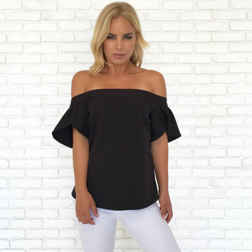 Flutter In My Heart Blouse In Black