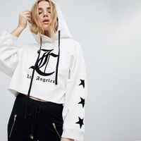Juicy By Juicy Couture Gothic Logo Cropped Hoody at asos.com