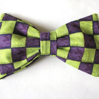 Mad Hatter Tie  Mens Bow Ties Gifts for Guys by MapleStreetMarket