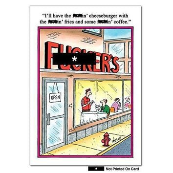 Fckers Humorous Birthday Paper Card with Envelope - Greeting Cards - Funny birthday card- Free Shipping