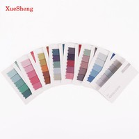 2PCS Brief Faded Color 4 Seasons Self-Adhesive Memo Pad Sticky Notes Post It Bookmark Sticker Paper Guestbook
