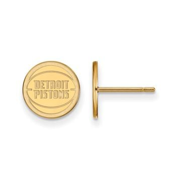 NBA Detroit Pistons 14k Yellow Gold X-Small Disc Post Earrings