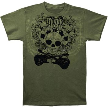 Guitar Hero Men's  T-shirt Green Rockabilia