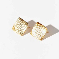 Diament Jewelry X Urban Renewal Hammered Square Stud Earring- Gold One