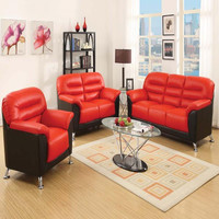 Acme Sibba Red/Black Sofa living room set