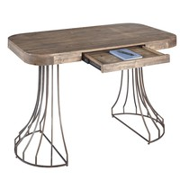 Zeke Contemporary Desk Gunmetal/Chargray